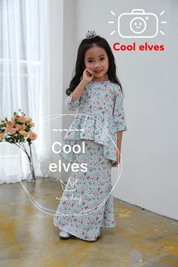 COOLELVES PEPLUM SCALLOP SET 4 ( SIZE 1Y-12Y )