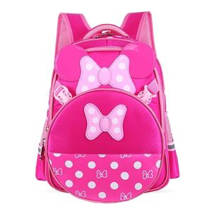 MINNIE MOUSE BAGS FOR GIRLS AND PRIMARY KIDS (DARK PINK AND  SOFT PINK)