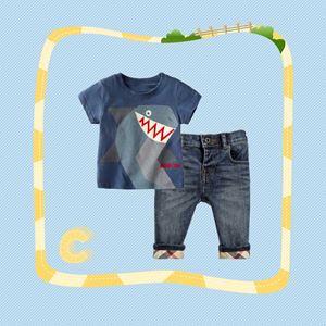307-C  BOY SET  ( C ) - BLUR SHARK   ( T-SHIRT + JEANS )