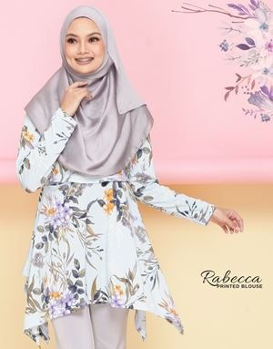 Rabecca Blouse Printed - Baby Blue