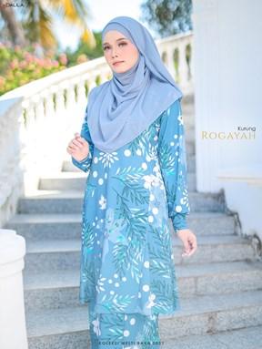 KURUNG PAHANG ROGAYAH (DUSTY BLUE)