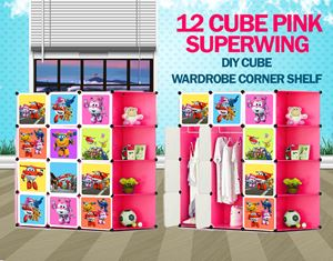 SuperWings Pink 12C DIY Cube W Corner Rack (SW12CP)