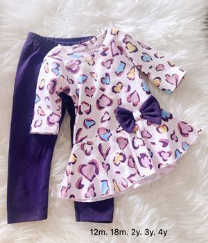 Peplum Set - Purple Leopard