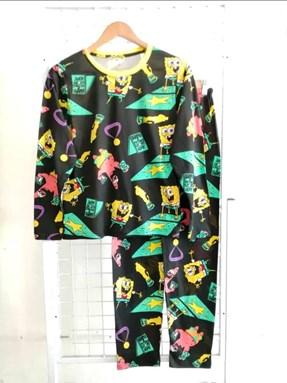 Pyjamas SPONGE BOB WALK OF FAME : Size DEWASA 3XL