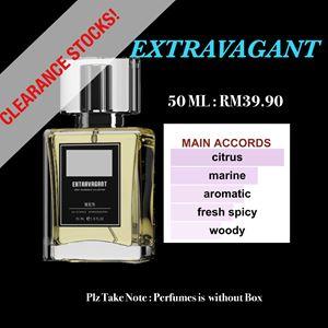 EXTRAVAGANT 50ml EDP PERFUMES CLEARANCE STOCKS