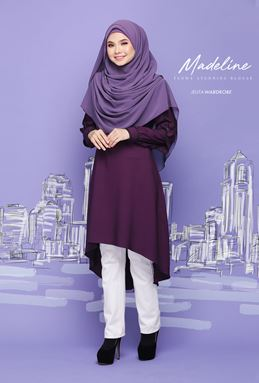 MADELINE FLOWY BLOUSE (SEXY PURPLE)