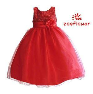 ZOE FLOWER RED GOWN ( SZ 4Y-10Y )