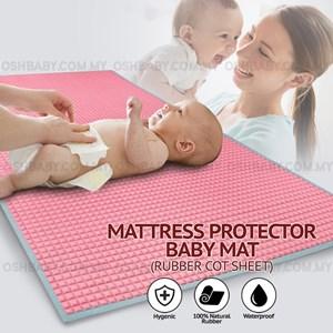 MATTRESS PROTECTOR BABY MAT (RUBBER COT SHEET)