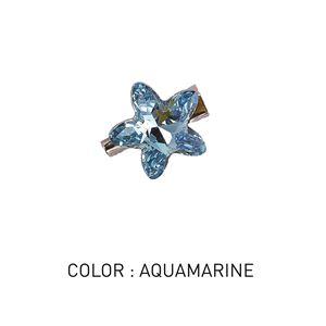 Brooch Star Aquamarine