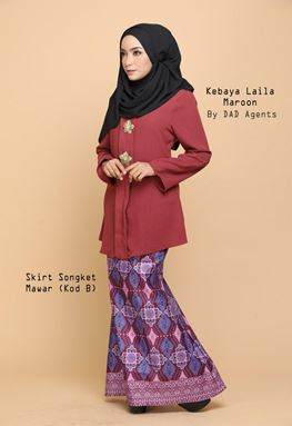 Kebaya Laila (Top) Maroon