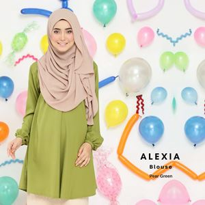 Alexia Blouse : Pear Green