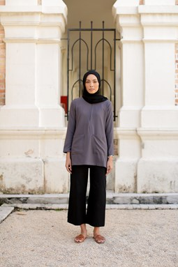 Adellea Blouse (Dark Grey)