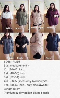 ED68 Ready Stock *Bust 44 to 54inch/ 112-137cm