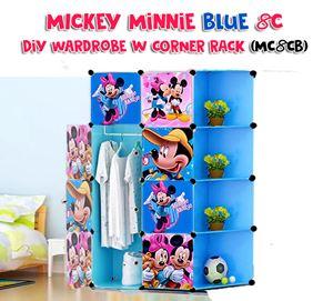 Mickey Minnie Blue 8C DIY Wardrobe w Corner Rack (MC8CB)