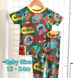 Pyjamas ELMO GREEN COOKIE  : BABY size 12m -24m