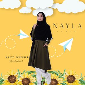 NEYLA TUNIC (NAVY GREEN)