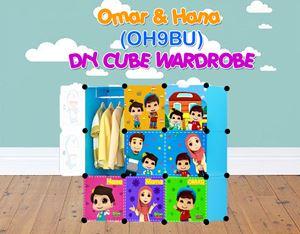 Omar & Hana BLUE 9C DIY WARDROBE (OH9BU)