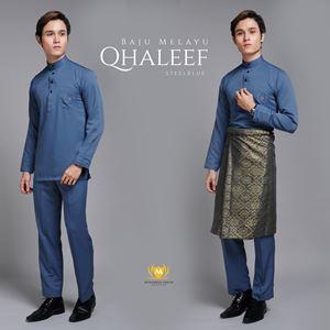 BAJU MELAYU QHALEEF (STEELBLUE)