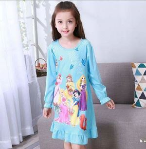 @  E175  BLUE PRINCESS SLEEPWEAR ( SZ 3Y-7Y )