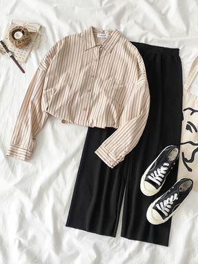 Korean Casual Stripe Shirt