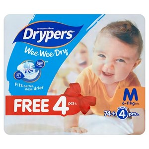 Drypers Wee Wee Dry Disposable Diaper (S/M/L/XL/XXL)