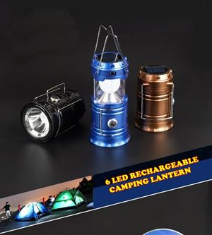 6 LED RECHARGEABLE CAMPING  ETA 6 SEPT 19