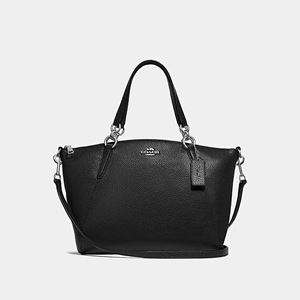 COACH Small Kelsey Satchel BLACK/SILVER