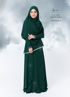 Jubah Ammara For Her (Emerald Green)