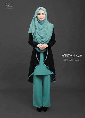 AISYAH SUIT ( Cadet Blue )