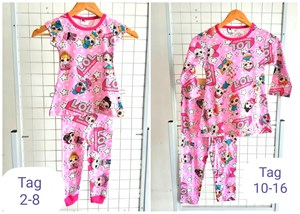 Pyjamas Viral (LOL PINK) Tag 6m - Size Tag 14