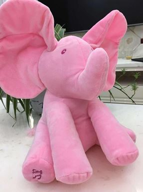 Peek-A-Boo Singing Elephant - Pink