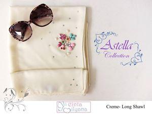 Astella Handcrafted Shawl (CREME)