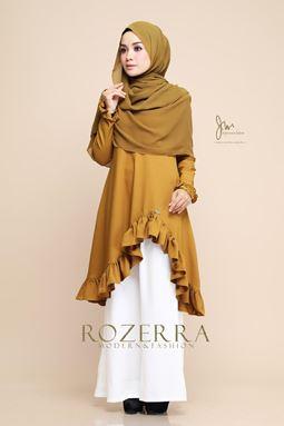 BLOUSE ROZERRA - OLIVE GOLD