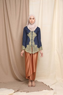 Mutiara Kebaya Top (Navy Blue)