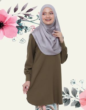 Emyra Blouse - Olive Green