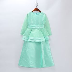 Coolelves Baju Kurung Mint Lace Peplum (1-12y)