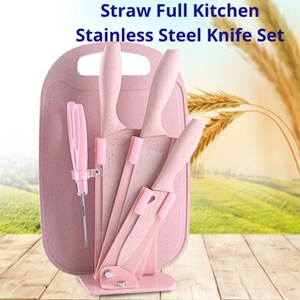 7 Pcs Knife Set With Chopping Board
