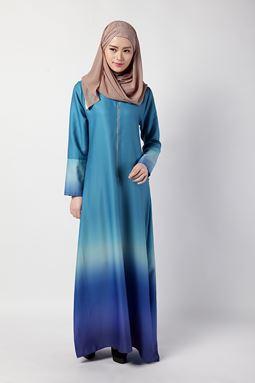 Amber Long Dress (Blue) - last pc saiz L