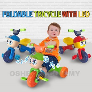 FOLDABLE TRICYCLE WITH LED & MUSIC