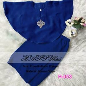 Baju Kurung Batwing - Royal Blue - HappyKids