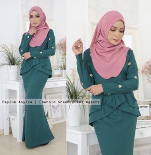 Peplum Asyira Pleated Emerald Green