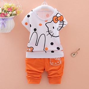BB279-1  KITTY ORANGE SET ( SZ 80-110 )