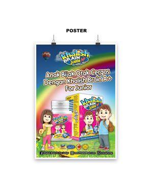 Poster, Khalish Brain A+, Size A2, 1 pcs