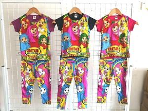 Pyjamas ANA MUSLIM (Brand HRZ) : Kids Size 2/3 hingga 8/9