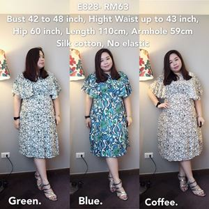 E828 Ready Stock *Bust 42 to 48inch/106-121cm