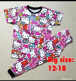 Pyjamas HELLO KITTY PINK RIBBON  : SIZE BIG  12 - 18
