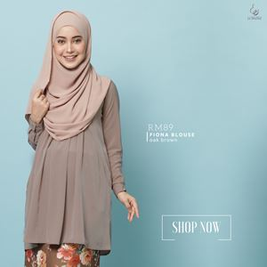 Fiona Blouse : Oak Brown