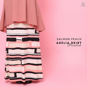Adelia Skirt Printed : Salmon Peach
