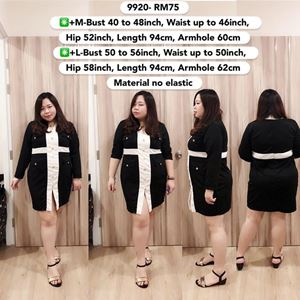 9920 Ready Stock  *Bust 40 to 56inch/ 102-142cm