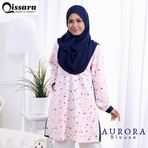 Blouse Aurora ( NAVY BLUE )- Nursing and Wudhu Friendly ( Button)